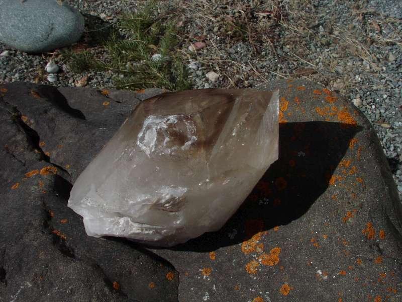 Cristal de roche avec Citrinkristall