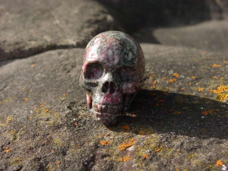 Crâne de cristal jasper #1074