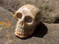 Cráneo de cristal jasper #1317